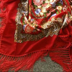 Scarf /Wrap /Shall Babushka Boho Gypsy Style